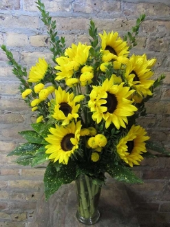 $65.00 Bright Yellow Sunflowers~Item 7-A